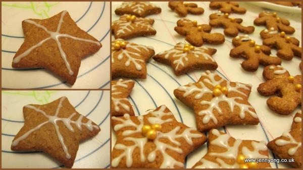 snowflake ginger cookies2