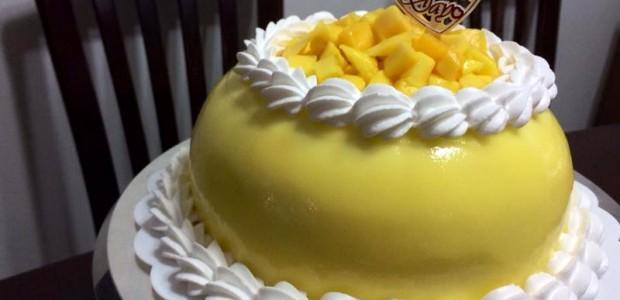 母亲节快乐- 英式柠檬芒果蛋糕